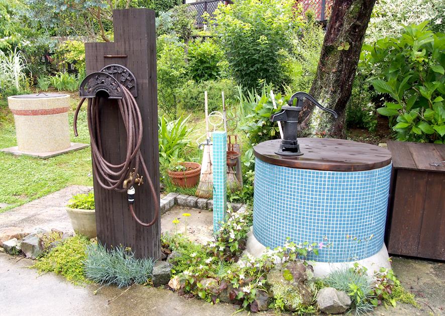 ガーデンオブジェ,井戸のアクセサリー,水栓