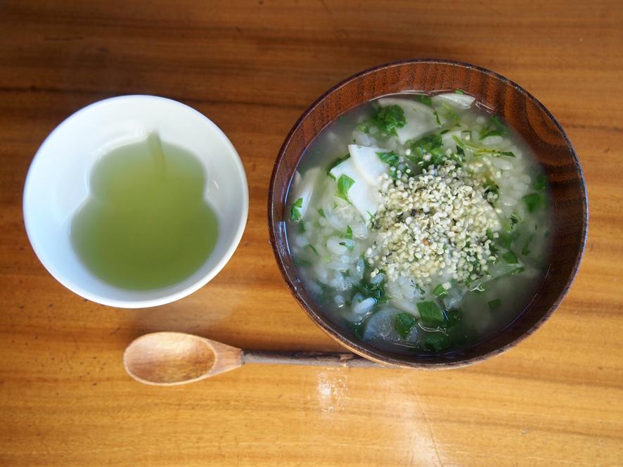 春の七草,朝食の七草粥